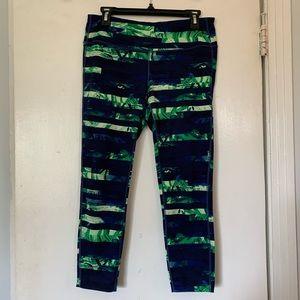 Athleta large green & blue leggings